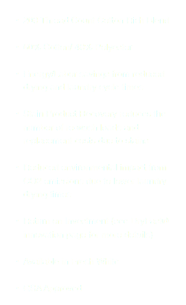 200 Thread Count Cotton Rich Blend 60% Cotton/ 40% Polyester Energy/Labor savings from reduced drying and laundry cycle times Stain Product Recovery reduces the number of re-wash loads and replacement costs due to stains Reduced environmental impact from CO2 emissions due to lower laundry drying times Return on Investment (see DryFast® innovation page for more details) Available in Fresh White GSA Approved